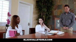 BlackValleyGirls - Hot Ebony Teen Fucks Best Friends Dad Teen step