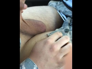 Military Guy with Huge Uncut Dick