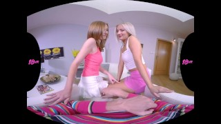 18VR.com Your Stepdaughter Linda And Cayla Ride Your Dick In VR