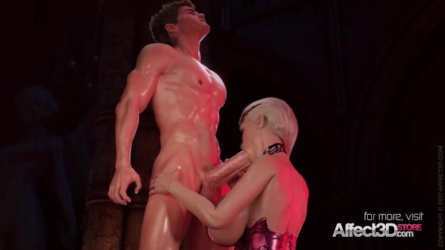 Cartoon sex orgie with a vampire Blonde big tits vampire anal sex