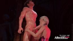 Blonde big tits vampire anal sex