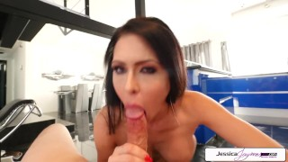 Jessica Jaymes sucking a big dick in POV, big booty