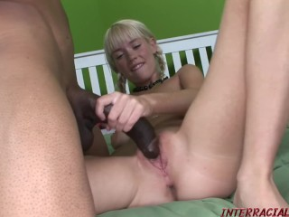 Young lesbians making love