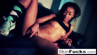Skin Diamond fucks her tight wet pussy