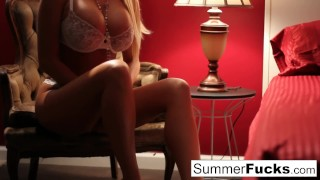 Summer Brielle masturbates Girlfriend brunette