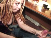 Cute Babe With Dreadlocks Sucks & Fucks