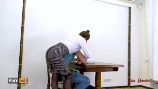 Hot teacher seduces her student fucking her ass to mouth. Mia Bandini Anal Anal