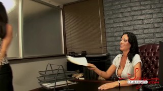 Zoey Holloway and Capri cavalli office sex