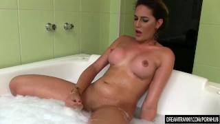 Tranny Bella Atrix Masturbates and Fucks a Dildo in Her Bubblebath