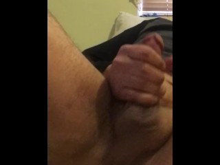 Thick dick bear home alone playing with his ass
