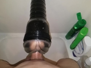 Shower Fleshlight Quicky + Slow Mo
