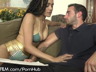 Julie Kay Bounces on Step-Daddys Cock