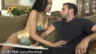 Julie Kay Bounces on Step Daddys Cock