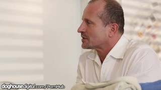 Cum-Swapping Euro Babes Fuck Angry Massage Client