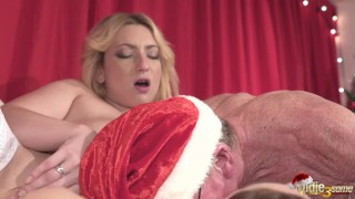 Day men swallow young girls on  their chirstmas old cum fuck and four deep