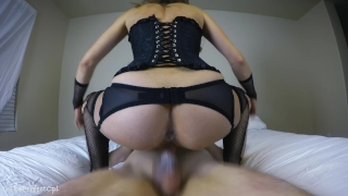 Pussy girlfriend's hot creamy dripping fucking creampie my on cowgirl