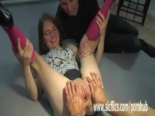 Gang bang fist fucking amateur sluts pussy