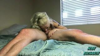 Beautiful Blonde Slut Bella Jane (BJ) Facefucked & Throated Rough