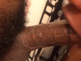 Gettin some nice ass head in the shower