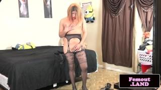 Latina femboy enjoying anal play