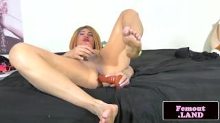 Play femboy enjoying anal latina ink smalltits