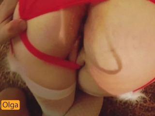 Hot CREAMPIE in the hotel POV for Christmas.