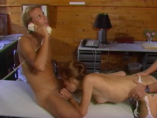 Ebony shemale and white submissive male