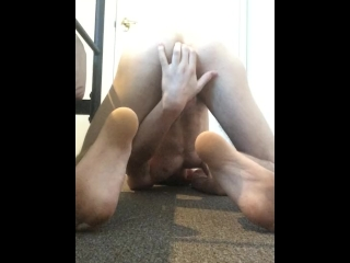 Teen boy having fun with cum