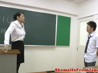 Preview 1 of Dom nippon newhalf cocksucked by student