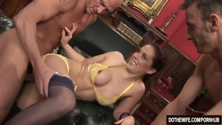 Brunette wife Karia Kare loving strangers cock Wife couple