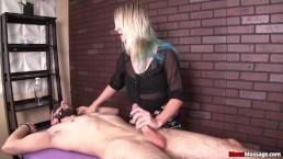 Sexy milf handjob domination