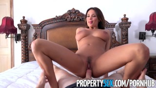 PropertySex - Hot French teacher fucks homeowner Teen tits