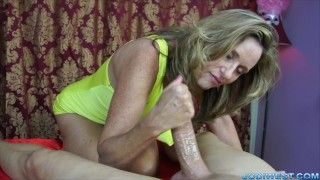 hot slow handjob