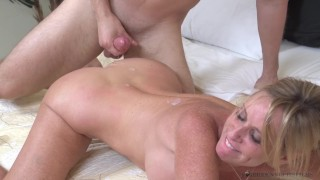 Aunts in my pants starring Jodi West Swallow cum