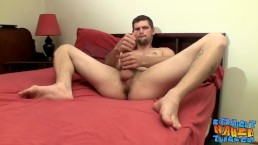 Hot tall Nolan with big strong dick masturbating all alone