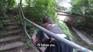 Preview 6 of Public Agent Lost Tourist Fucked outside under a Bridge