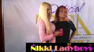 NikkiLadyboys at the TEA show with T-girls Pornhub.com ebony