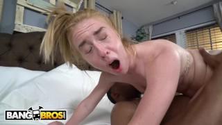BANGBROS - Tiny Teen Bonnie Grey Takes a Big BLACK Cock
