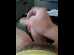 Big white cock cums twice in a row