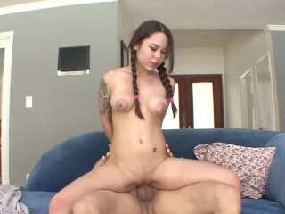 Teen Slut Pussy Fucking, Bubble Butt Barely Legal Teen Destroyed by Large Cock and Loves CUM