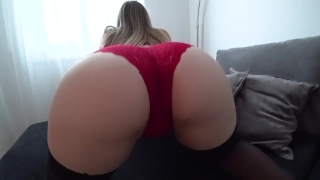 Sex panties red stockings through in and fetish fuck
