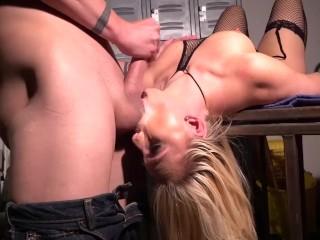 AJ Applegate face pounded by huge rod