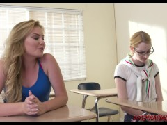 Naughty schoolgirl Britney Light takes BBC from her teacher