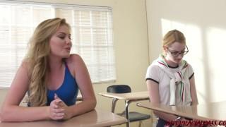 Naughty schoolgirl Britney Light takes BBC from her teacher