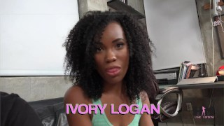 Hussie Auditions: Hot ebony teen Ivory Logan in her very first sex scene! Fuck interview