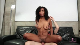 Hussie Auditions: Hot ebony teen Ivory Logan in her very first sex scene! Man man