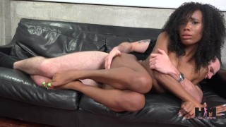 Hussie Auditions: Hot ebony teen Ivory Logan in her very first sex scene! Girl on