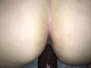 Hot slutty wife fucks big black cock!!