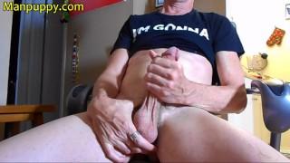 Gay Daddy Huge Cock Solo Jerk Off - Richard Lennox - Manpuppy