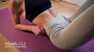 Preview 1 of THANK YOU FOR 2017! Yoga pants, deepthroat, hard fuck and huge load on body